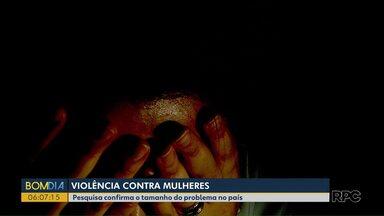 Pesquisa mostra tamanho do problema da violência contra mulheres - Os dados foram divulgados pelo Fórum Brasileiro de Segurança, em parceria com o Datafolha.