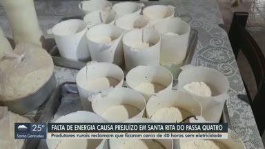 Moradores de Santa Rita do Passa Quatro ficam 40 horas sem energia elétrica - Alguns produtores rurais tiveram que jogar a produção no lixo.