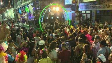 Cerca de 30 mil pessoas se reúnem para comemorar o carnaval de Jaguarão - Assista ao vídeo.