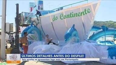 Escolas de samba de Florianópolis se preparam para o desfile deste sábado (2) - Escolas de samba de Florianópolis se preparam para o desfile deste sábado (2)