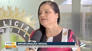 Carnaval de 2019 é o primeiro com a Lei da importunação sexual - Carnaval de 2019 é o primeiro com a Lei da importunação sexual. Atitudes não consentidas, como passar a mão e forçar um beijo, agora são crimes.