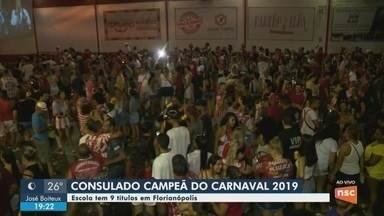 Consulado do samba comemora vitória do carnaval de Florianópolis - Consulado do samba comemora vitória do carnaval de Florianópolis