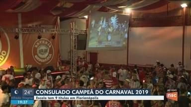 Consulado do samba conquista título de campeã do carnaval de Florianópolis - Consulado do samba conquista título de campeã do carnaval de Florianópolis