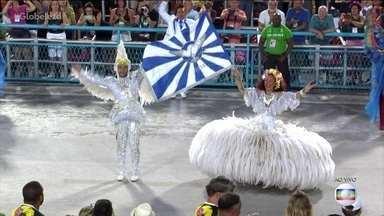 Mestre-sala e porta-bandeira representam Clara Nunes e águia da Portela - Marlon Lamar e Lucinha Nobre são o primeiro casal de mestre-sala e porta-bandeira.