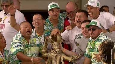 Mancha Verde ganha primeiro título no Grupo Especial do carnaval de SP - Disputa foi acirrada. Tatuapé e Mancha Verde começaram a despontar e seguiram na liderança até o último quesito, alegoria.