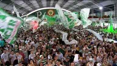Mancha Verde comemora título de campeã do Grupo Especial de São Paulo - A festa na quadra da Mancha Verde invadiu a madrugada. Foi o primeiro título da escola no Grupo Especial do Carnaval de São Paulo.