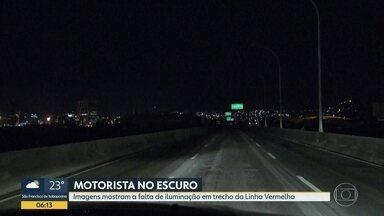 Motoristas sofrem com apagões em vias do Rio - Problemas, nesta madrugada, foram na Av. Paulo de Frontin e na Linha Vermelha.