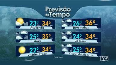 Acompanhe a previsão do tempo no Maranhão - Veja as variações das temperaturas nesta segunda-feira (11) em São Luís e também no interior doe stado.