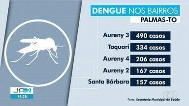 Bairros da região sul de Palmas lideram ranking de casos de dengue na capital - Bairros da região sul de Palmas lideram ranking de casos de dengue na capital