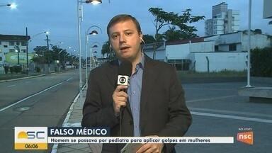 Homem é preso após se passar por pediatra e aplicar golpes em Jaraguá do Sul - Homem é preso após se passar por pediatra e aplicar golpes em Jaraguá do Sul