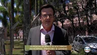 Feridos em tiroteio em escola de Suzano são encaminhadas para hospitais da região - Feridos em tiroteio em escola de Suzano são encaminhadas para hospitais da região.