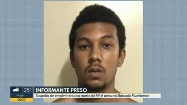 Suspeito de envolvimento em morte de PM é preso na Baixada - Ítalo de Peixoto Queiroz, de 20 anos, se apresentou na Delegacia de Homicídios da Baixada Fluminense.