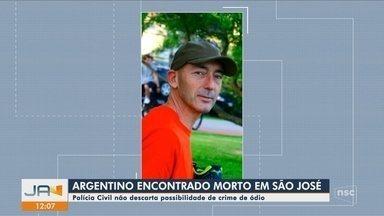 Polícia investiga morte de argentino em São José - Polícia investiga morte de argentino em São José