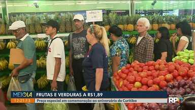 Dez produtos estão mais baratos nos Sacolões de Curitiba - Os itens estão sendo vendidos a R$ 1,89 o kilo. Confira a lista.