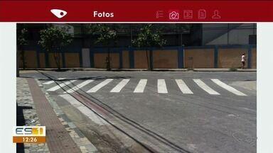 Telespectadores agradecem pintura de faixas em Cachoeiro de Itapemirim, ES - Agradecimento chegou por aplicativo.