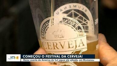 Com mais de 800 rótulos, Festival Brasileiro da Cerveja começa nesta quarta em Blumenau - Com mais de 800 rótulos, Festival Brasileiro da Cerveja começa nesta quarta em Blumenau
