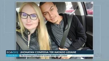 Homem se entrega à Polícia e confessa ter matado Lidiane Oliveira - Jhonatan Campos assumiu o crime.