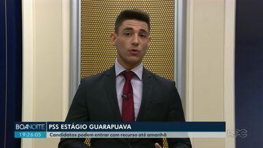 Recurso do PSS para vagas de estágio em Guarapuava termina amanhã - Podem apresentar o pedido quem percebeu irregularidades na nota ou na classificação.