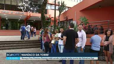 Juri popular do 'Maníaco da torre' dura mais de 10 horas - Roneys Fon Firmino Gomes está sendo julgado pela morte de Ednalva Paz