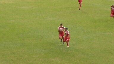 Dedezinho recebe cruzamento pela esquerda e pega de primeira para marcar um belo gol - Rio Negro x Princesa