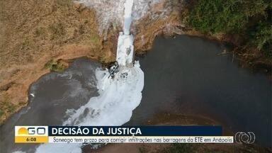 Justiça determina que que Saneago faça obras emergenciais em Goiás em até 90 dias - Problemas são relatados costumeiramente por usuários.