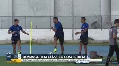 Botafogo estreia Diego Souza contra o Flu - Clássico vai ser no domingo às 19h no Maracanã. Será o primeiro jogo da principal contratação do clube alvinegro.