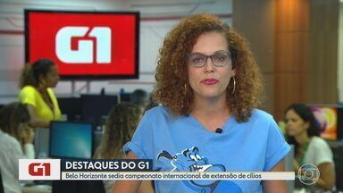 G1 MG no BDMG: Belo Horizonte sedia campeonato internacional de extensão de cílios - Procedimento estético que virou febre no Brasil também será debatido por mais de 300 congressistas neste fim de semana. Atividades fazem parte de feira que acontece na capital.