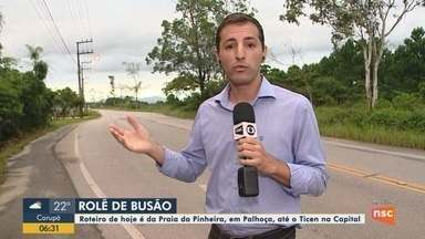 BDSC enfrenta trânsito da Praia da Pinheira, em Palhoça, até o Ticen de Florianópolis - BDSC enfrenta trânsito da Praia da Pinheira, em Palhoça, até o Ticen de Florianópolis
