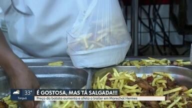 O preço da batata subou 40% nos últimos meses - Comerciantes estão fazendo o que podem pra não aumentar o preço pro consumidor