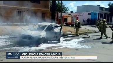 Noite violenta em Ceilândia - A polícia registrou dois homicídios e três tentativas nessa quinta-feira.