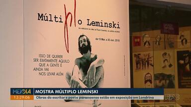 Obras de Leminski estão em exposição no Museu Histórico de Londrina - A exposição vai até o dia 30 de junho.