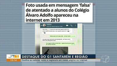 Foto usada em ameaça de ataque ao Colégio Álvaro Adolfo é destaque no G1 Santarém e região - Veja essa e outras notícias pelo celular, computador e tablet.
