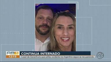 Estado de saúde de casal de Garanhuns que sofreu acidente na Argentina apresenta melhora - Casal participava de uma viagem de moto pela América do Sul com amigos.