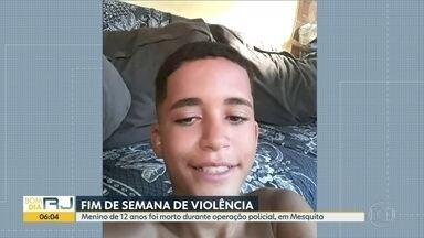 Adolescente é morto durante operação da Polícia Militar na Favela da Chatuba - Um menino de 12 anos foi morto durante uma operação da Polícia Militar, nesse fim de semana, na Favela da Chatuba, em Mesquita.