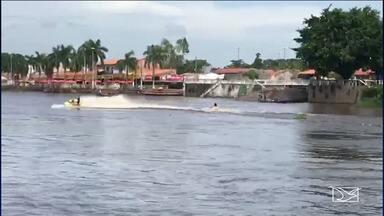 Acidente com motocicleta aquática deixa um ferido em Pindaré Mirim - O acidente que aconteceu no domingo (17) e foi provocado pela imprudência do piloto da motocicleta aquática que estava em alta velocidade.