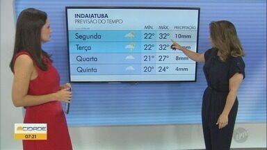 Confira a previsão do tempo para Campinas nesta segunda-feira - Semana começa com céu com nuvens.