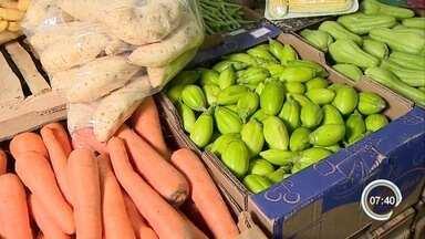 Preço das verduras está mais alto - Volume de chuvas eleva o valor das verduras.