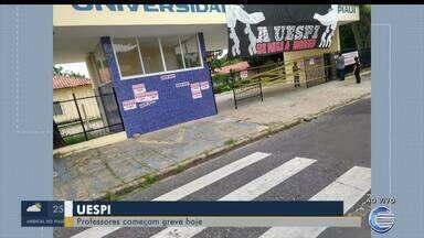 Professores da UESPI iniciam greve nesta segunda-feira (18) - Professores da UESPI iniciam greve nesta segunda-feira (18)