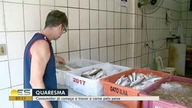 Consumidores começam a trocar carne por peixe durante a Quaresma, no ES - Tradição cristã muda hábitos alimentares.