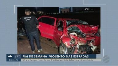 Três acidentes são registrados no fim de semana em Campo Novo do Parecis - Três acidentes são registrados no fim de semana em Campo Novo do Parecis