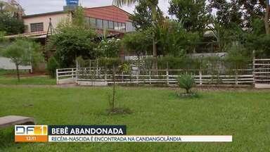 Bebê recém-nascida é abandonada na Candangolândia - A bebê foi deixada num gramado perto da igreja.