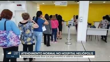 Falta de funcionário gera fila no Hospital de Heliópolis - Não tinha ninguém na recepção para atender os pacientes.
