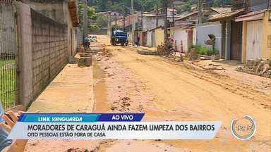 Prefeitura de Caraguá trabalha na limpeza da cidade após a chuva - Prefeitura monitora áreas de risco.