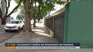 Estudante é morto a facadas por colega de pensionato em Maringá - Outros dois jovens ficaram feridos.
