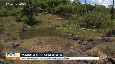 Sofrimento: seca do Rio Cachoeira provoca falta de água em Maragojipe - Problema no abastecimento acontece há um mês.