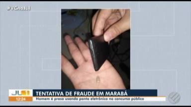 Homem é preso por tentar fraudar prova do concurso da Prefeitura de Marabá - Candidato ao cargo de motorista foi flagrado com um ponto eletrônico durante a prova no domingo (17).