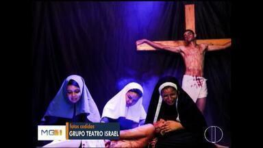 Grupo de teatro se prepara para encenação na Semana Santa - Grupo vai reviver a crucificação de Jesus.