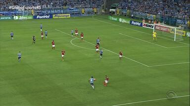 Grêmio vence o Inter por 1 x 0 em Gre-Nal na Arena, em Porto Alegre - Inter reclama de agressão ao Nico López e escala time reserva.