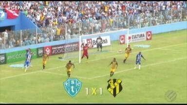 Paysandu sofre gol no final e empata com o Castanhal na Curuzu - Papão sai na frente, mas vacila na defesa e proporciona o gol do Japiim