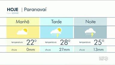 Segunda-feira de tempo instável no Noroeste - Pode chover a qualquer momento.
